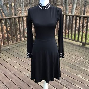 NWT! Michael Michael Kors XXS Black L/S Dress